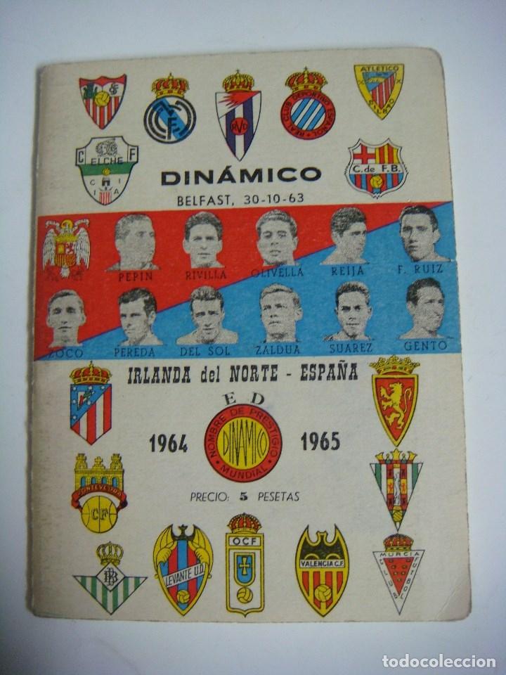 LIBRILLO CALENDARIO DE FUTBOL DINAMICO TEMPORADA-1964-1965 (Coleccionismo Deportivo - Libros de Fútbol)