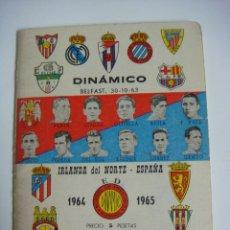 Coleccionismo deportivo: LIBRILLO CALENDARIO DE FUTBOL DINAMICO TEMPORADA-1964-1965. Lote 176512379
