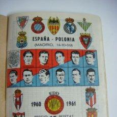Coleccionismo deportivo: LIBRILLO CALENDARIO DE FUTBOL DINAMICO TEMPORADA-1960-1961. Lote 176513334