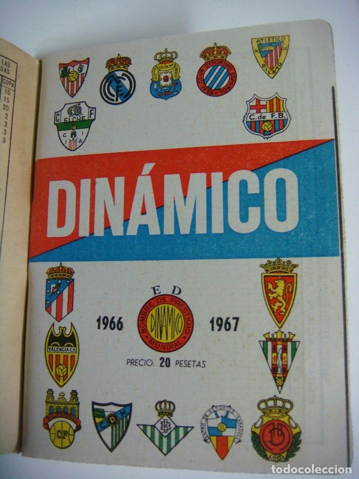 LIBRILLO CALENDARIO DE FUTBOL DINAMICO TEMPORADA-1966-1967 (Coleccionismo Deportivo - Libros de Fútbol)