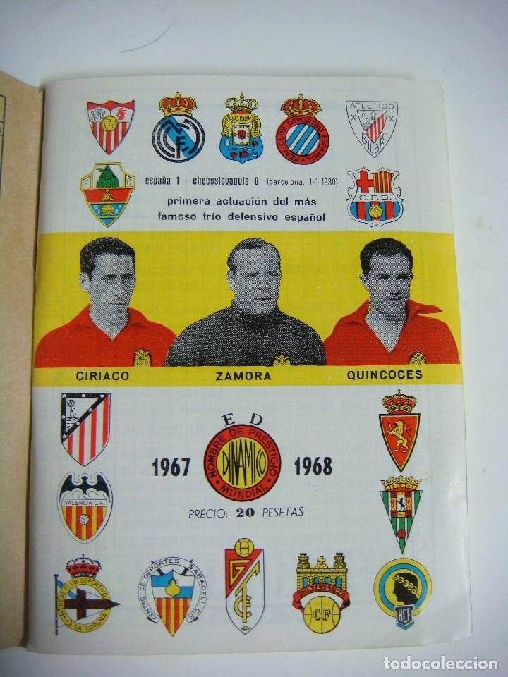 LIBRILLO CALENDARIO DE FUTBOL DINAMICO TEMPORADA-1967-1968 (Coleccionismo Deportivo - Libros de Fútbol)