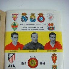 Coleccionismo deportivo: LIBRILLO CALENDARIO DE FUTBOL DINAMICO TEMPORADA-1967-1968. Lote 176514189
