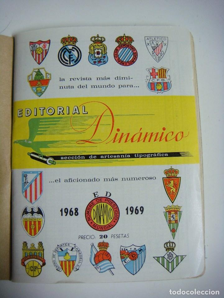 LIBRILLO CALENDARIO DE FUTBOL DINAMICO TEMPORADA-1968-1969 (Coleccionismo Deportivo - Libros de Fútbol)
