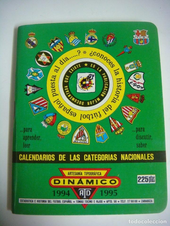FUTBOL LIBRILLO DINAMICO CALENDARIO DE LAS CATEGORIA NACION TEMPORADA 1994-1995 (Coleccionismo Deportivo - Libros de Fútbol)