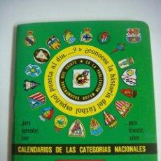 Coleccionismo deportivo: FUTBOL LIBRILLO DINAMICO CALENDARIO DE LAS CATEGORIA NACION TEMPORADA 1994-1995. Lote 176701662