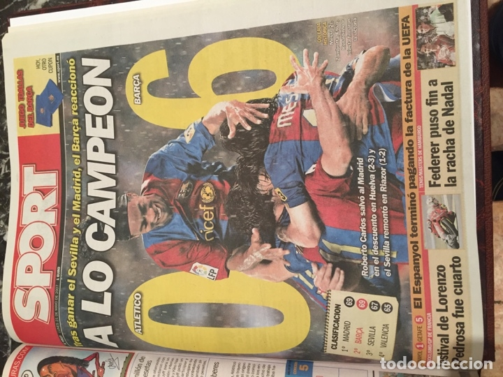 Coleccionismo deportivo: Tomo portadas Sport temporada 06-07 - Foto 2 - 176971712