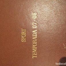 Coleccionismo deportivo: TOMO PORTADAS SPORT TEMPORADA 07-08. Lote 176971813