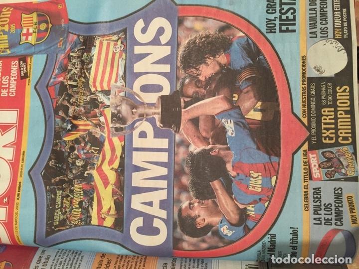 Coleccionismo deportivo: Tomo portadas Sport temporada 04-05 - Foto 2 - 176971853