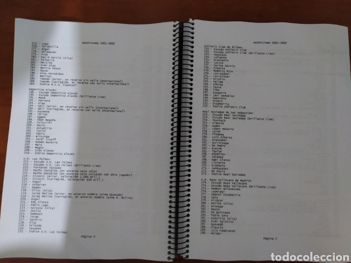 Coleccionismo deportivo: Mundicromo catalogo con listado completo temporada 1994 1995 hasta 2010 2011 - Foto 2 - 177615252
