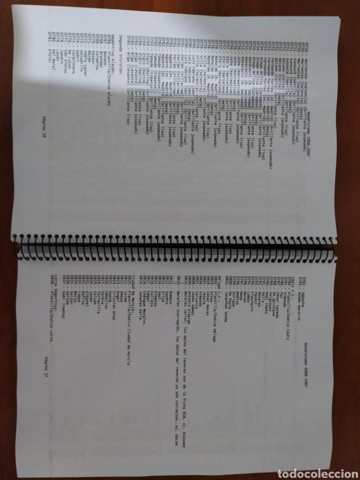 Coleccionismo deportivo: Mundicromo catalogo con listado completo temporada 1994 1995 hasta 2010 2011 - Foto 3 - 177615252