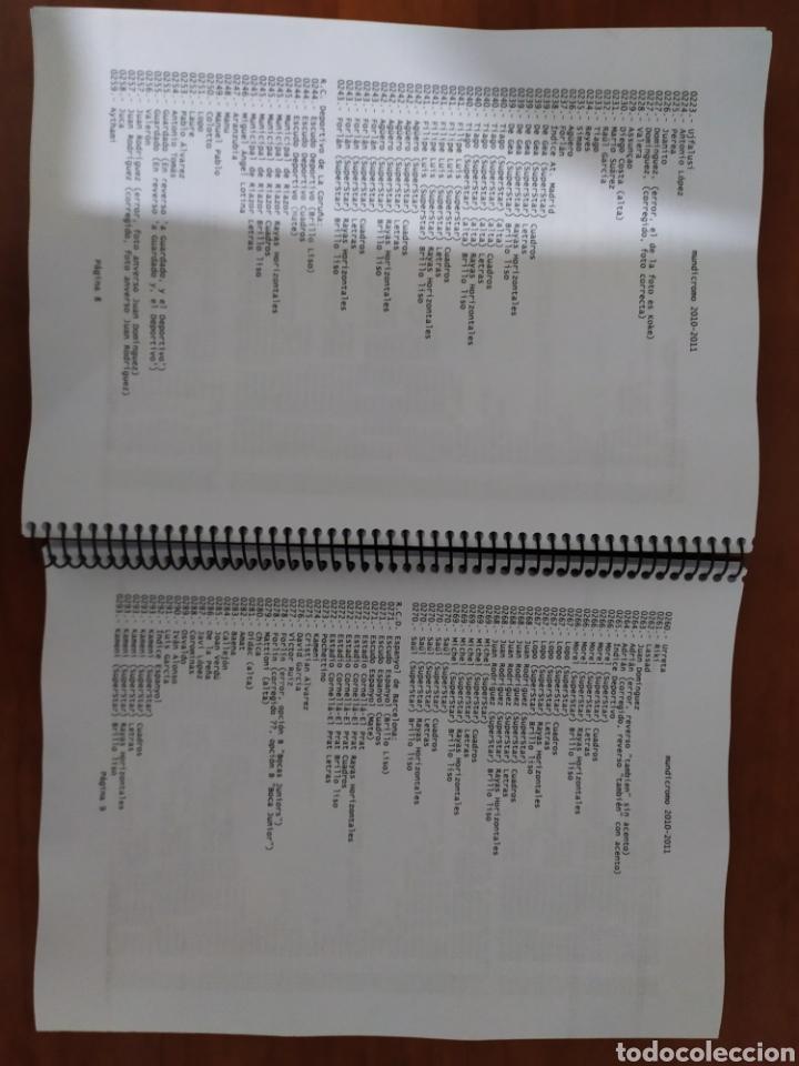 Coleccionismo deportivo: Mundicromo catalogo con listado completo temporada 1994 1995 hasta 2010 2011 - Foto 4 - 177615252