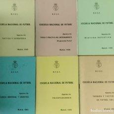 Coleccionismo deportivo: REAL FEDERACIÓN ESPAÑOLA DE FÚTBOL SALA, MADRID 1985. 6 PUBLICACIONES DE LA ESCUELA NACIONAL DE FUTB. Lote 177944310