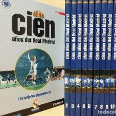 Coleccionismo deportivo: CIEN 100 AÑOS DEL REAL MADRID, CENTENARIO 1902-2002 (12 TOMOS) - DIARIO AS - VER TÍTULOS -FÚTBOL. Lote 178387527