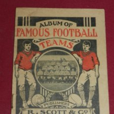 Coleccionismo deportivo: ALBUM OF FAMOUS FOOTBALL TEAMS R SCOTT, IRLAND, MANCHESTER UNITED, LIVERPOOL, CELTIC, NOTTS FOREST. Lote 179313657