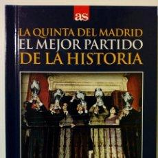 Coleccionismo deportivo: DVD + LIBRO: LA QUINTA DEL MADRID, EL MEJOR... (18-5-1960) REAL MADRID 7-3 EINTRACHT FRANCFORT - AS. Lote 179321393