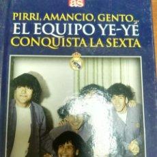 Coleccionismo deportivo: LIBRO + DVD REAL MADRID PARTIZAN, EL EQUIPO YE YE, PIRRI AMANCIO GENTO DIARIO AS. Lote 179534912