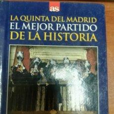 Coleccionismo deportivo: LIBRO + DVD REAL MADRID EINTRACHT FRANCFORT LA QUINTA COPA DE EUROPA DIARIO AS. Lote 179535072