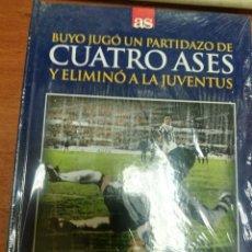 Coleccionismo deportivo: LIBRO + DVD REAL MADRID-JUVENTUS, 1986 CUATRO ASES, BUYO PARTIDAZO, DIARIO AS. Lote 179535386