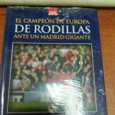 Coleccionismo deportivo: DVD + LIBRO: EL CAMPEON DE EUROPA DE RODILLAS (19-4-2000) MANCHESTER UNITED 2-3 REAL MADRID - AS. Lote 179535780