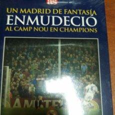 Coleccionismo deportivo: LIBRO + DVD : UN REAL MADRID DE FANTASIA ENMUDECIO AL CAMP NOU. DIARIO AS. Lote 179535975