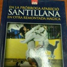 Coleccionismo deportivo: LIBRO + DVD REAL MADRID-INTER, 5-1 EN LA PRORROGA APARECIÓ SANTILLANA, DIARIO AS. Lote 179536400