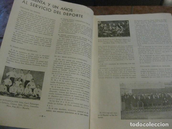 Coleccionismo deportivo: rcd real club deportivo español e. carballo su vida su historia sus triunfos futbol 1900-1941 - Foto 5 - 180081748