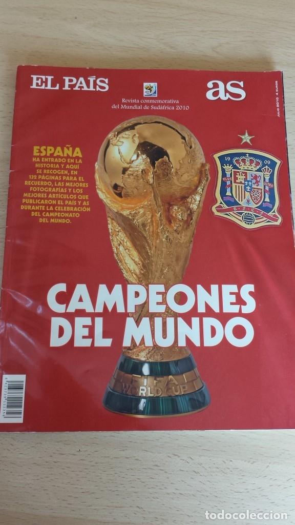 REVISTA CONMEMORATIVA CAMPEONES DEL MUNDO DE FUTBOL. SUDAFRICA 2010 (Coleccionismo Deportivo - Libros de Fútbol)