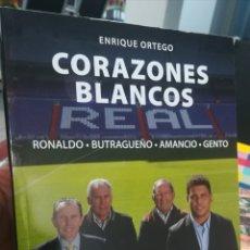Coleccionismo deportivo: CORAZONES BLANCOS RONALDO BUTRAGUEÑO AMANCIO GENTO FUNDACIÓN REAL MADRID EVEREST. Lote 180422865