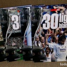 Coleccionismo deportivo: 30 LIGAS BLANCAS - REAL MADRID - COMPLETA - 4 TOMOS - AS. Lote 181147856
