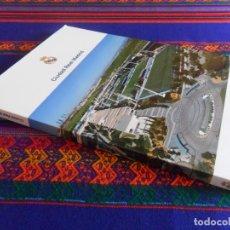 Coleccionismo deportivo: LIBRO CIUDAD REAL MADRID, DISCURSO FLORENTINO PÉREZ COLOCACIÓN PRIMERA PIEDRA. REGALO DIPLOMA SOCIO.. Lote 100286851