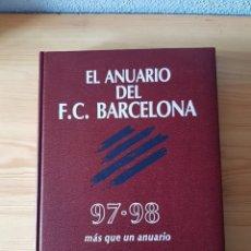 Coleccionismo deportivo: ANUARIO FÚTBOL CLUB BARCELONA 97-98. DICUR. Lote 181417980