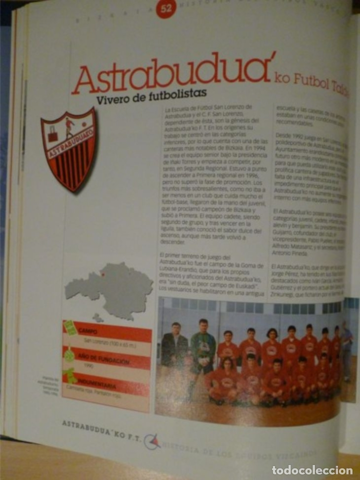 Coleccionismo deportivo: HISTORIA DEL FÚTBOL VASCO: BIZKAIA - Foto 2 - 182180328