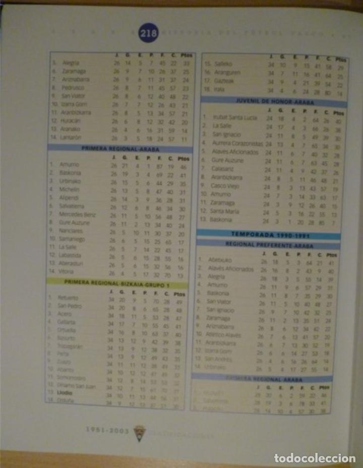 Coleccionismo deportivo: HISTORIA DEL FÚTBOL VASCO: ARABA - Foto 3 - 182180351