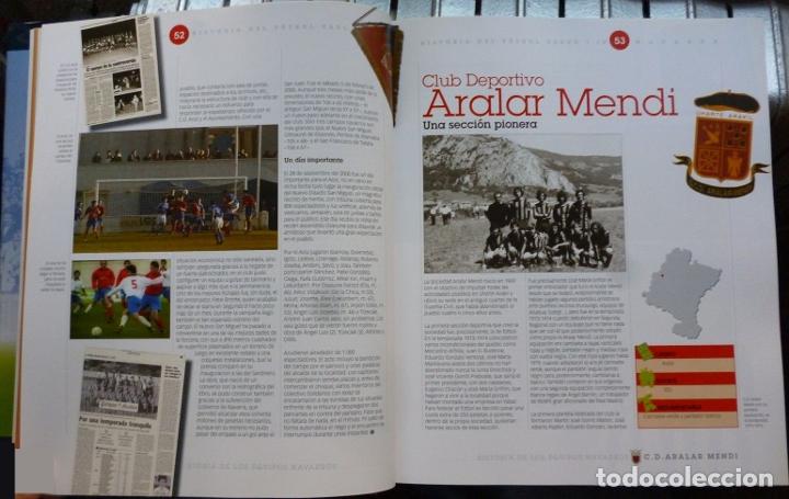 Coleccionismo deportivo: HISTORIA DEL FÚTBOL VASCO - NAVARRA - Foto 2 - 182180372