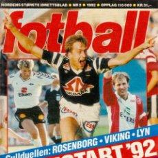 Coleccionismo deportivo: FOTBALL SERIESTART 92. Lote 182180546