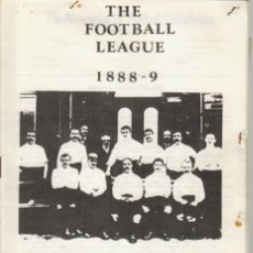 Collezionismo sportivo: THE FOOTBALL LEAGUE 1888/89. Lote 182180567