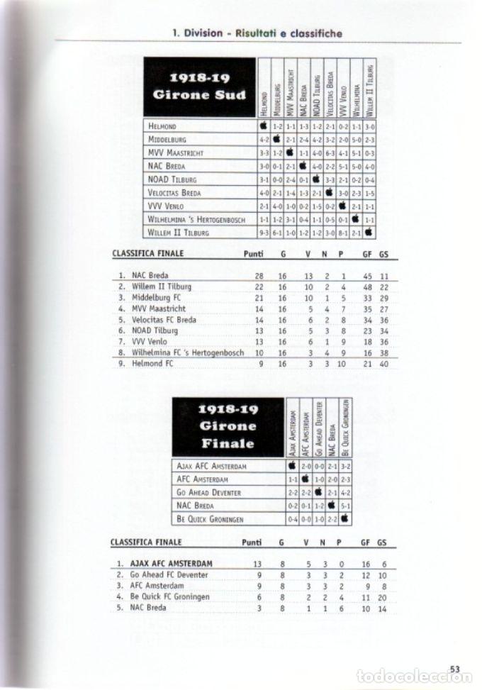 Coleccionismo deportivo: OLANDA 1.DIVISION 1888-1956 - Foto 2 - 182181723