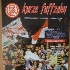 Coleccionismo deportivo: REVISTA KURZE FUFFZEHN (14-03-1999). Lote 182182291
