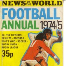 Coleccionismo deportivo: NEWS OF THE WORLD ANNUAL 1974/75. Lote 182182780