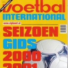 Coleccionismo deportivo: VOETBAL INTERNATIONAL SEIZOENGIDS 2000/01. Lote 182182791
