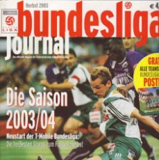 Coleccionismo deportivo: BUNDESLIGA JOURNAL 2004. Lote 182182903
