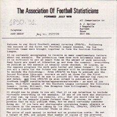 Coleccionismo deportivo: A.F.S. 1890-91. Lote 182182918