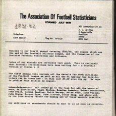 Coleccionismo deportivo: THE A.F.S. 1891-92 ANNUAL. Lote 182183005