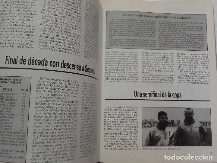 Coleccionismo deportivo: EQUIPOS CON HISTORIA - REAL OVIEDO - UNIVERSO EDITORIAL - 1990 - FUTBOL - Foto 6 - 182567243