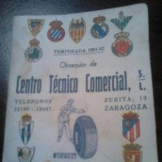 Coleccionismo deportivo: VIEJO LIBRILLO DE FÚTBOL, TEMPORADA 1961-62. Lote 183867933