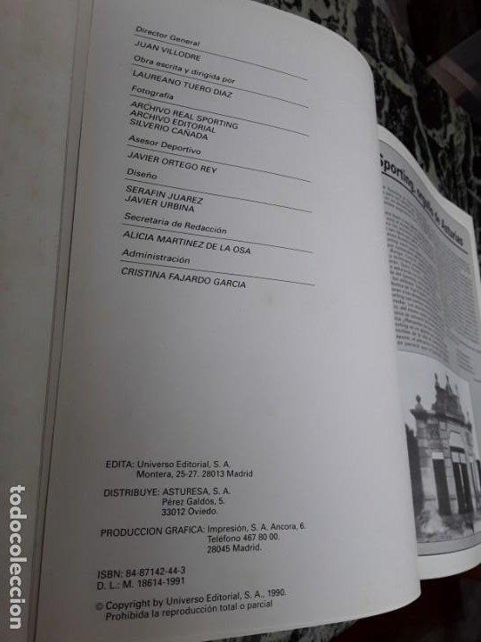 Coleccionismo deportivo: Real Sporting. Equipos con historia. Gijón. Universo Ed., 1990. Único en tc. Ilustrado. - Foto 3 - 184492557