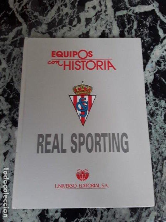 REAL SPORTING. EQUIPOS CON HISTORIA. GIJÓN. UNIVERSO ED., 1990. ÚNICO EN TC. ILUSTRADO. (Coleccionismo Deportivo - Libros de Fútbol)