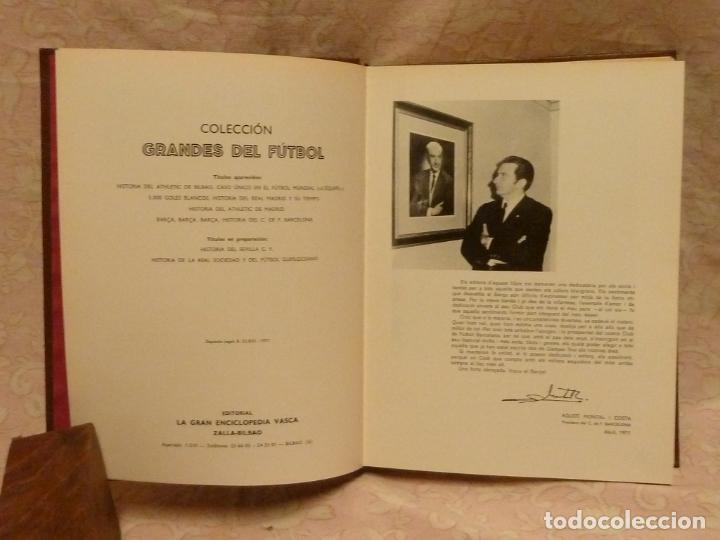 Coleccionismo deportivo: BARÇA / HISTORIA DEL C.F.BARCELONA – ED. LA GRAN EDITORIAL VASCA 1971 - Foto 4 - 185899637