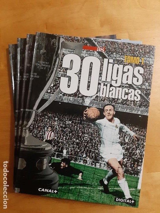 COLECCION COMPLETA 4 TOMOS DIARIO AS - 30 LIGAS BLANCAS (REAL MADRID) (Coleccionismo Deportivo - Libros de Fútbol)