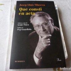 Coleccionismo deportivo: (LLL) LIBRO-QUE CONSTI EN ACTA-(CATALÁN). Lote 186294482